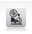 Crash icon vector