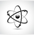 Atom logo symbol 3d vector