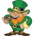 St patrick's day leprechaun vector
