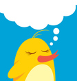 Cute bird with bubble speech vector