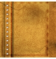 Abstract brown leather background vector