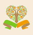 Wedding logo with an orange tree in the form of vector