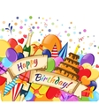 Festive celebration happy birthday background vector