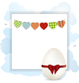 Easter panel with white eggs vector