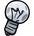 Old bulb junk cartoon vector