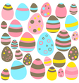 Yellow blue and pink eastern eggs seamless texture vector