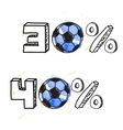 Soccer discount elements vector