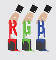 Rgb - red green and blue the additive color model vector
