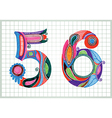 Hand draw sketchy numbers vector