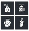 Retro perfume icons set vector
