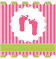 Footprint of girl vector