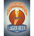 Premium lager beer vector