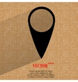 Map pointers flat modern web button on a flat vector