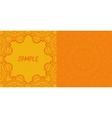 Invitation card design ornamental orange flyer art vector