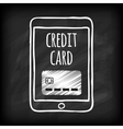 Doodle touch pad with credit card vector