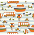 Seamless pattern with colorful transport vector