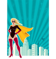 Super heroine city vector