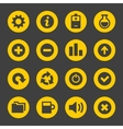 Universal simple web icons set 2 vector