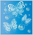 Butterflies background 4 vector