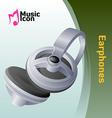 Music earphone vector
