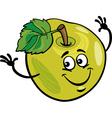 Funny apple fruit cartoon vector