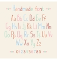 Simple colorful hand drawn font complete abc vector