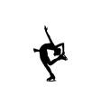 Figure skating individual silhouettes vector