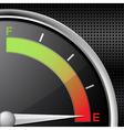 Fuel gauge empty vector