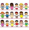 Cute children holding hand vector