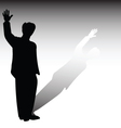 Man stay silhouette vector