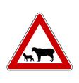 Sheep flock warning sign vector