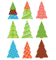 Abstract pattern christmas trees vector