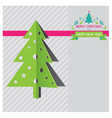 Christmas tree and new year background vector