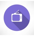 Tube tv icon vector