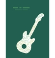 Curly doodle shapes guitar music silhouette vector
