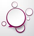 Paper white-purple round speech bubbles vector