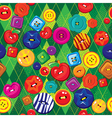 Seamless background with colorful sewing buttons vector