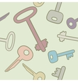 Seamless background with keys in bright colors vector