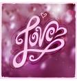 Love hand lettering - handmade calligraphy vector