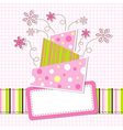 Template greeting card eps10 vector