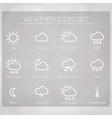 Weather widget copy vector