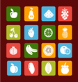 Fruit icon set - vector