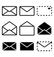 Envelope mail icon vector