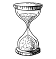 Sand glass clock vector