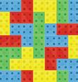 Pattern colorfull building blocks vector