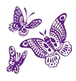 Set of butterfly silhouettes llustration vector