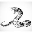 Snake tribal tattoo vector