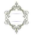 Stylish retro lace border in vector