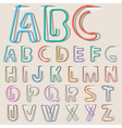 Clip paper alphabet vector