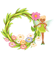 Fairy floral laurel vector
